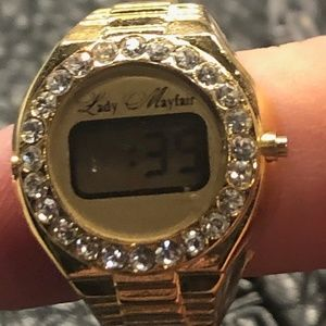 Gold tone ring WATCH